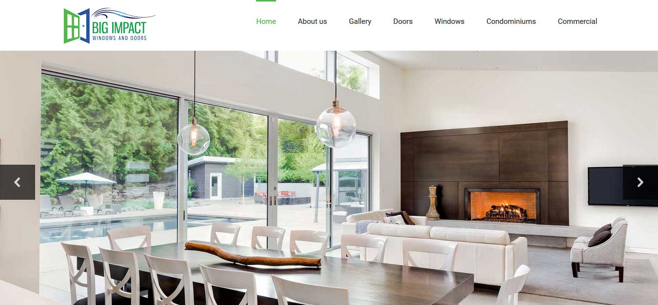 Impact Window Web Design Home Improvement Web Design
